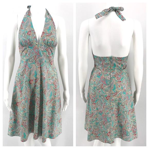 Anthropologie Dresses & Skirts - ANTHRO EVA FRANCO Dress 2 Halter Paisley Beach Sun